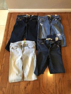 CLEARANCE ***4 PAIR ABERCROMBIE & Fitch Jeans ****SZ 16