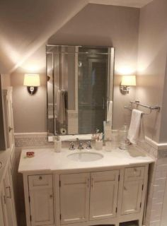 Beveled mirror with mirrored frame