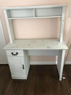 Well loved Desk with Hutch