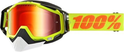 Purchase 100% Racecraft Snow Goggles Yellow w/Mirror Red Lens 50113-004-02 motorcycle in Lee's Summit, Missouri, United States, for US $74.95