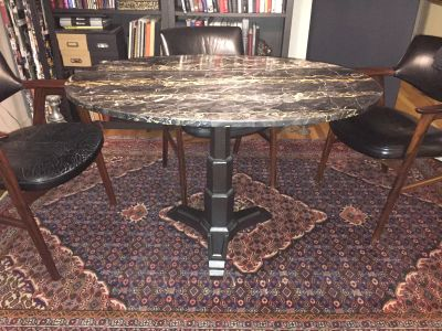 Oval Marble Table 47W X 31D X 30H