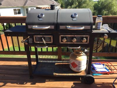 Propane/charcoal grill. Works great! PIOG