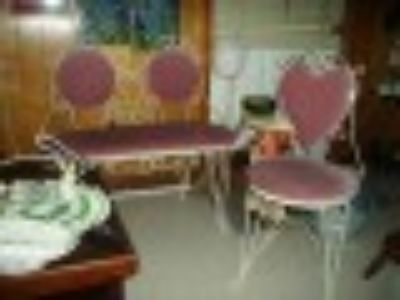 Shabby Chic ~GIRLY~ loveseat and chair PINK!!