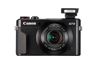 Canon PowerShot G7 X Mark II Digital Camera with Wi-Fi & NFC, LCD Screen, and 1-inch Sensor - Black