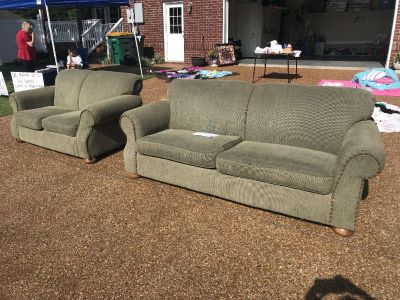 Sofa and loveseat set very comfortable fcfs