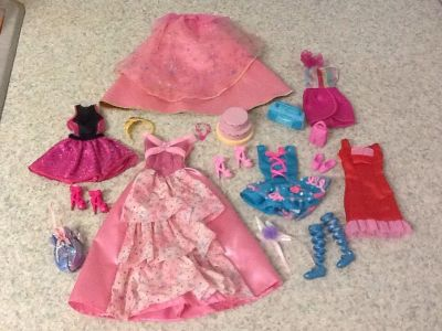"""Clothes for Barbies """" birthday set """" 17 pcs in all"""