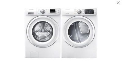 Samsung 3.5 Cu. Ft. 6-Cycle Front-Load Washer and 7.3 Cu. Ft. 7-Cycle Electric Dyer
