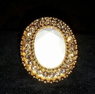 """Authentic KATE SPADE OF NEW YORK """"IN THE SPOTLIGHT"""" 12K GOLD PLATED, SWAROVSKI CRYSTAL cocktail ring. BNWT $145 Nordstrom bought."""