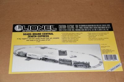 Lionel Sears Brand Central Zenith Express O27 Electric Train Set With Extras (Collector's)