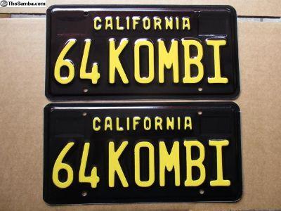 """64 KOMBI"" California Black Plates 1964"