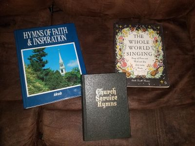 3 Books of Hymns Church Service Music religious