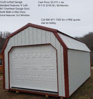 12x20 Lofted Garage