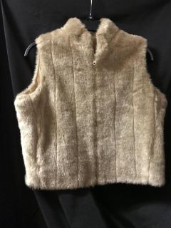 New without tags soft touch furry zip front vest $18.00.