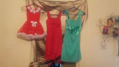 Dresses vary in size small ,10 girls