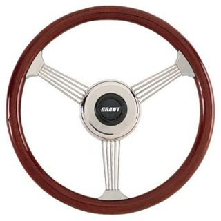 "Find New Grant 14-3/4"" Classic Style Banjo Mahogany Wood Rim Steering Wheel motorcycle in Lincoln, Nebraska, US, for US $399.99"