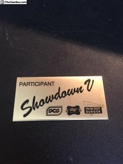 Small Car Specialties Showdown #5 dash plaque 1985