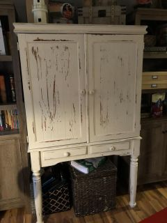 Armoire for office or makeup stationor TV or lots of uses. $150