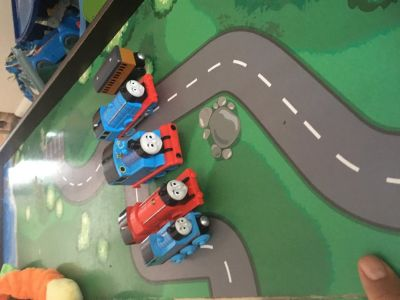 Thomas trains, tracks and table