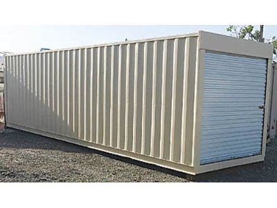 STORAGE CONTAINER, NEW, 20', ROOFS COATED WHITE ...