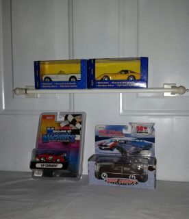 69 Camargo Muscle car, 1/64 diecast, 2 Power racers 1/43 pull back action, yellow and white and 1949 Mercury Collectable Tribute 1/43.