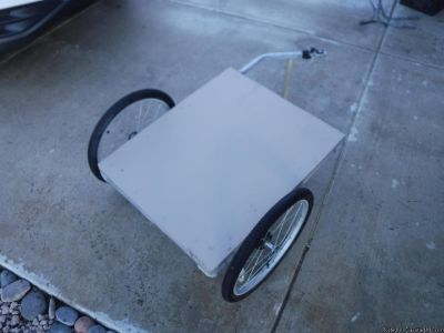 Flat bed bicycle trailer by Christopher Metcalfe Creations