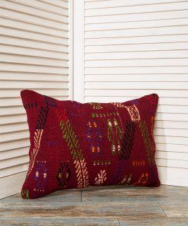 red pillow cover, lumbar pillow, throw pillow
