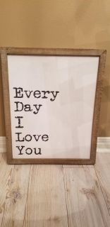 Hobby Lobby Picture/ Wood Frame