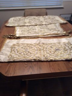 Gold Trimmed Decorative Pillow Covers