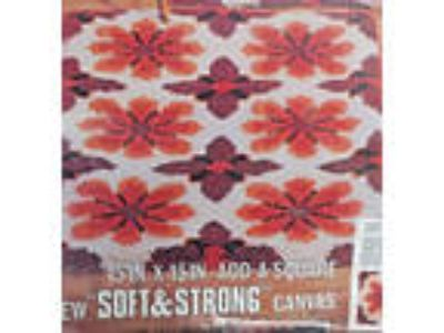 "Red Heart Rug Pattern 6607-05 Fantasia 15""X 15"" Add a Square"