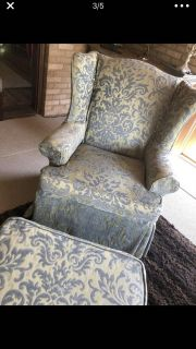 Formal chair and matching ottoman. $ 159 for
