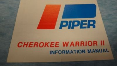 Sell PIPER CHEROKEE WARRIOR II INFORMATION MANUAL 761-649 12-16-76 motorcycle in Keego Harbor, Michigan, United States
