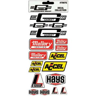 Buy Mr. Gasket 7007G Racing Decal Sticker Pack Mallory Accel Lakewood motorcycle in Suitland, Maryland, US, for US $8.90