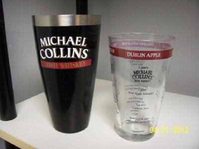 $25 Micheal Collins IRISH WHISKEY Bar Glass Set
