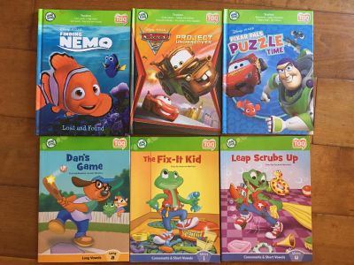 Lot of 6 Leap Frog Tag Books 3 Hardcover 3 Softcover LIKE NEW