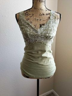 GUC olive lace top tank