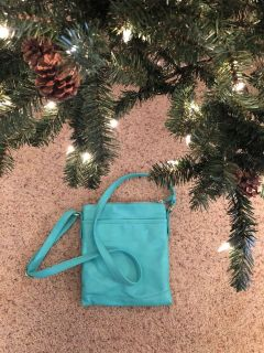 Turquoise Leather purse