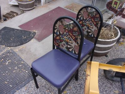 Metal Chair with Pad