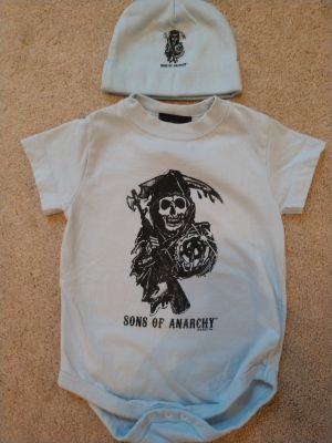 Sons of Anarchy Onesie & Hat (12 mos)