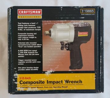 "Craftsman 1/2"" Impact Wrench (NEW)"