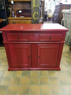 Ashley Furniture red cabinet, TV stand, entrway, buffet $150 plus tax