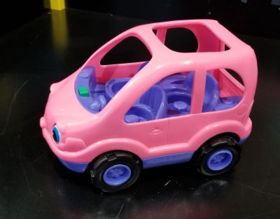 Little people pink car