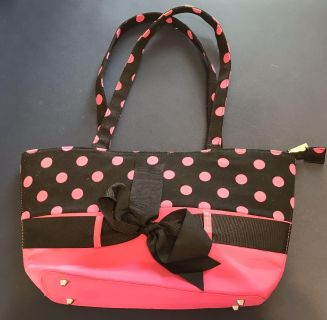 Black and pink purse
