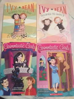 Four kids paperbacks Ivy and Bean and Grimmtastic Girls