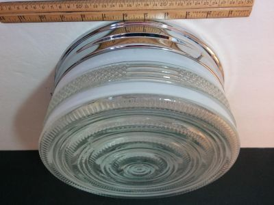 """VINTAGE STYLE GLASS CEILING LIGHT 11"""""""