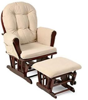 Nursery Glider Rocking Chair with Foot Rest