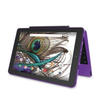 Purple RCA tablet with keyboard