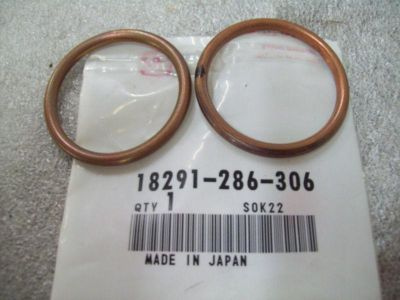 Purchase Genuine Honda Exhaust Pipe Gasket (2) GL1200 GL650 & More 18291-286-306 NEW NOS motorcycle in Sandusky, Michigan, US, for US $6.99