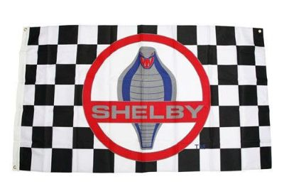 Purchase SHELBY AMERICAN CLASSIC COBRA 3'X5' CHECKERED FLAG FORD MUSTANG GT500 COBRA SVT motorcycle in Indian Wells, California, United States, for US $44.95