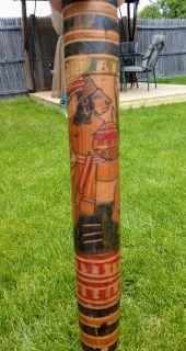 Vintage carved/painted bat