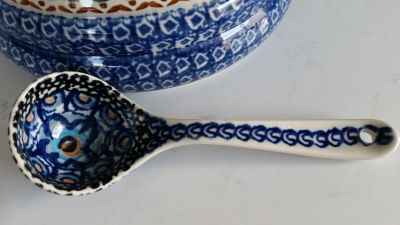 Polish pottery - serving spoon